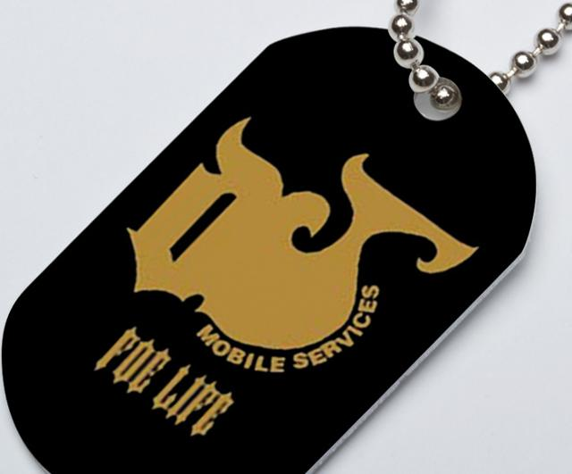 Classic 1-Sided Dog Tag w/ Chain
