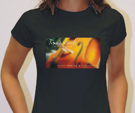 Women's Black T-Shirt with Color Logo