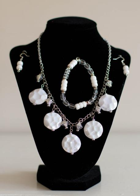 Polished White Silver Set